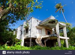 destroyed french colonial style villa in kep kep province