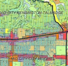 San Diego Zoning Map by Sd Urban San Diego U0027s Core Neighborhoods