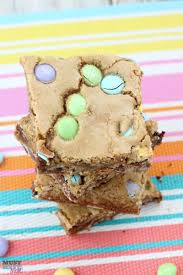 easter m u0026m u0027s cookie bars recipe diy mini easter basket idea
