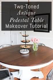 antique pedestal table makeover tutorial erin spain