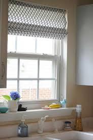 kitchen window treatments roman shades decor window ideas
