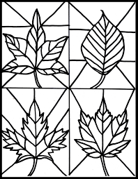 Fall Halloween Coloring Pages by Make It Easy Crafts Kid U0027s Craft Stained Glass Leaves Free Printable