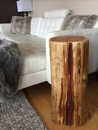 Tree Stump Nightstand Stump Side Table Tree Trunk Table Pinterest Tree Trunk Table