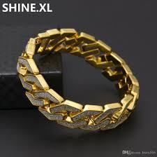 name link bracelet images 2018 iced out miami cuban link bracelets for men jewelry 3d gold jpg