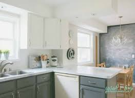 shiplap kitchen backsplash with cabinets remodelaholic diy budget friendly white kitchen renovation