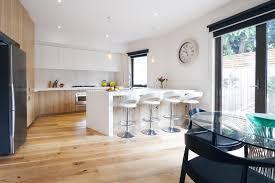 kitchen with island bench modern open plan kitchen with island bench stock photo image