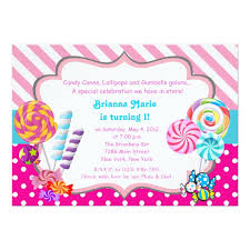 candyland invitations u0026 announcements zazzle