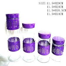 purple kitchen canisters purple kitchen canister sets pompaair