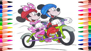 painting mickey mouse coloring pages coloring minnie mouse