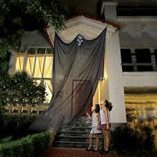 Halloween Outdoor Hanging Decorations by Amazon Com Halloween Hanging Ghost Prop Hanging Skeleton Flying