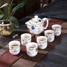 teapot set teapot set white ceramic tea set painted kitchen dining