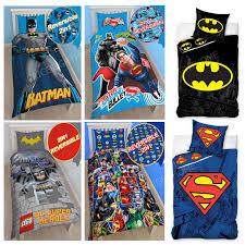 Batman Toddler Bed Dc Comics Batman U0026 Superman Duvet Cover And Pillowcase Sets