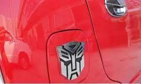 transformers autobots logo 3d car ornament decal clickbd