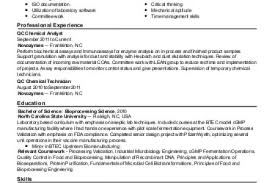 Biotech Resume Sample by Sample Resume For Forester Reentrycorps