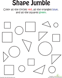 ideas collection shape worksheets for preschool in proposal