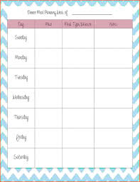 12 meal planner template survey template words