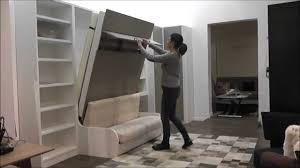 armoire lit avec canapé inside75 com démonstration armoire lit escamotable campus