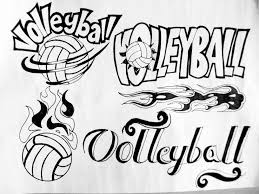 artwork volleyball poster logo design aep e portfolio