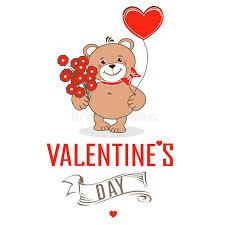 s day teddy bears teddy bears with hearts stock vector illustration of feelings