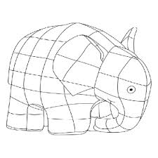 elmer elephant coloring free patchwork colouring sheets