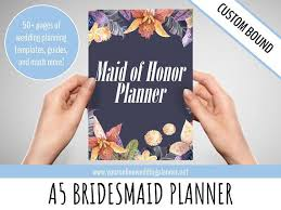 of honor planner book ultimate of honor planner a5 custom wedding organizer
