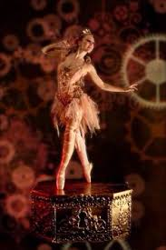 vintage ballerina box with glass dome image by harris