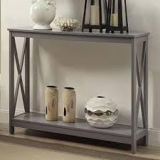 Grey Console Table Grey Console Sofa Tables You Ll Wayfair