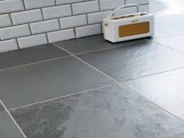 grey slate tile bathroom
