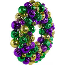 green mardi gras 16 mardi gras wreath antique purple gold green xw1972gt