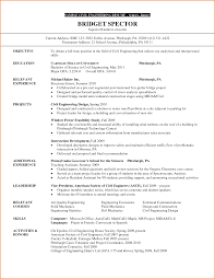civil engineering internship resume exles brilliant ideas of sle resume for internship in civil