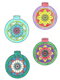 three dimensional christmas ornament coloring book and paper