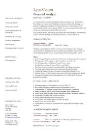 Key Competencies Resume Financial Analyst Cv Sample Interrogating Financial Data