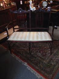 stunning edwardian mahogany 2 seater parlour settee art nouveau