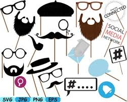 photo booth party props party props photo booth prop emoji clip svg glasses hats ties