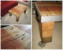 Industrial Wood Coffee Table by Table Basse Style Industriel Industrial Style Coffee Table