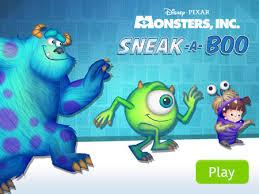 monster u0027s sneak boo disney lol games