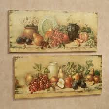 bountiful setting fruit wall art plaque set multi warm of two