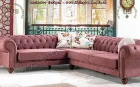 Classic Chesterfield Sofa L Shaped Chesterfield Sofa Purple Velvet Exclusive Design Ideas