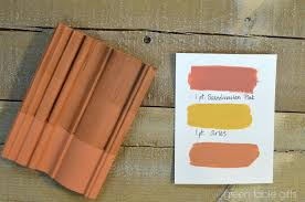 chalk paint mix of versailles and barcelona orange with clear wax