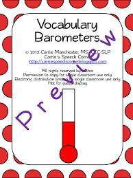 carrie s speech corner vocabulary barometers