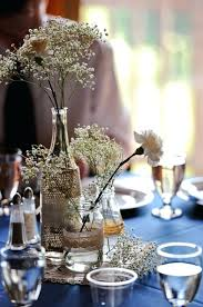 jar centerpieces for weddings burlap wedding food table decorations burlap lace babys breath