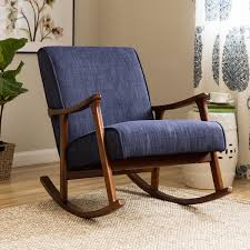 Rocking Chair Conversion Kit Retro Indigo Wooden Rocking Chair Free Shipping Today