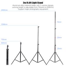 photo studio lighting kit set 2pcs 2 meters 6 6ft light stand