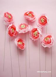 diy crepe paper flowers bouquet party ideas party printables