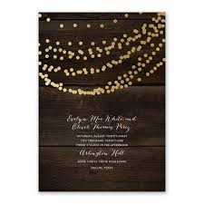 rustic beauty foil invitation invitations by