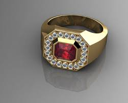 pave 3d models 3d pave pave mens ring diamond and ruby 3d printable model