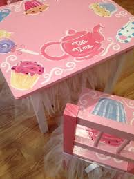 little girls table and chair set decoupage little girls table and chair furniture to paint