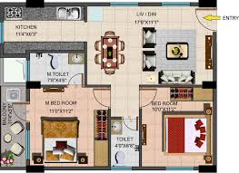 2 Story Apartment Floor Plans 1 Floor Plan Omaxe City 2 Bhk House Plans At 8 00 Sq Ft Bright