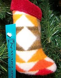 wooly christmas stocking native american christmas stockings