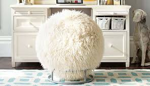 white faux fur desk chair incredible covered exercise ball is a real thing you can home